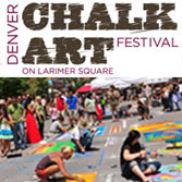 Denver Chalk Art Festival, Larimer Square, Larimer Street between 14th & 15th Streets, Downtown Denver, CO, June 1-2