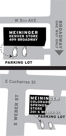 Denver and Colorado Springs Parking for Pick-up