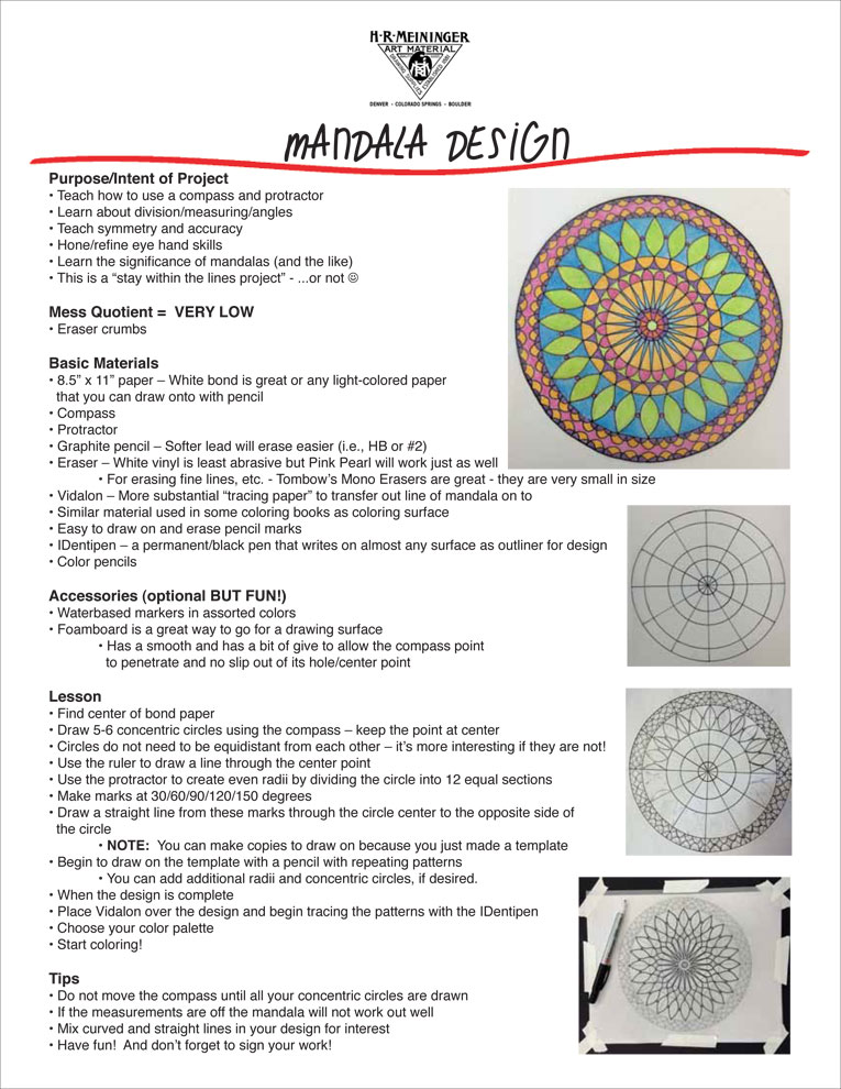 Lesson Plan 15:  Mandala Design