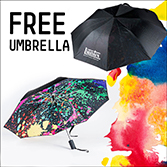 FREE Liquitex Umbrella with $125 purchase of any Liquitex products, while supplies last