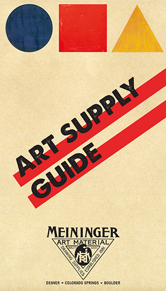 Art Supply Guide & Sale through 9/30/18