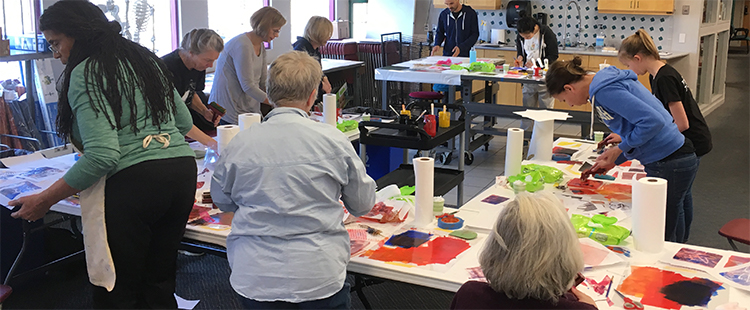 Meininger Art Supply class: Monotypes & Gel Plates
