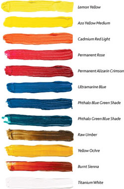 Winsor & Newton Color Palette