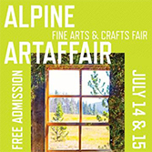 Winter Park Alpine ArtAffair, July 14-15, Hideaway Park, downtown Winter Park, CO