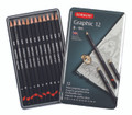 Derwent Graphic Hard Pencil 12pc Tin