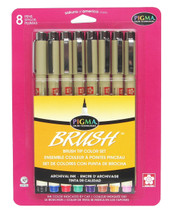 Pigma Brush Assorted Colors 8pc set