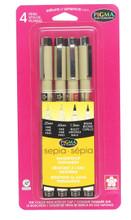 Pigma Micron 4pc Sepia Set