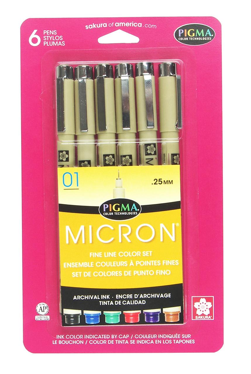 Sakura Pigma Micron Manga Pen Set of 4 Sepia