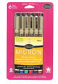Micron 005 Assorted Color 6pc set