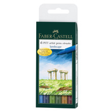 Pitt Pen Brush Landscape 6pc