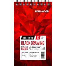 Koh-I-Noor Black Drawing Pad 5.5x8.5