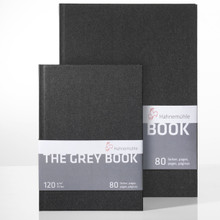 Hahnemuhle Gray Sketchbooks, A5 (5.8x8.3) and A4 (8.3x11.7)