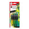 Marabu Mixed Media Art Crayon Jungle Green Set
