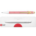 Caran D'ache 850 Holiday Chevron Ballpoint Pen with Case