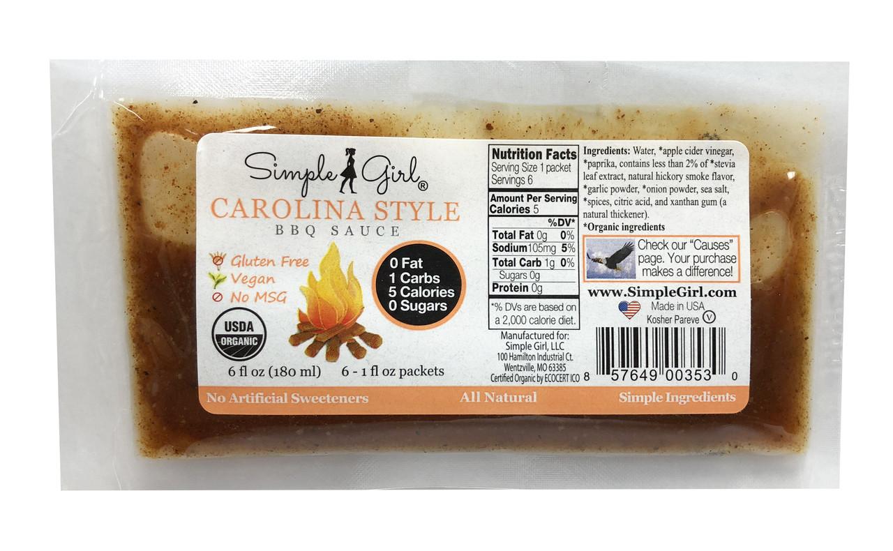 Carolina Kick BBQ Sauce Packet