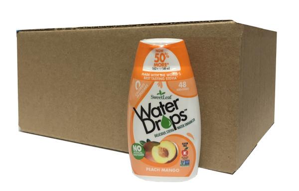 Peach Mango SweetLeaf Water Drops (case of 12)