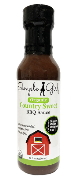 Simple Girl Organic Country Sweet BBQ Sauce (12 oz bottle)