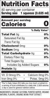 Old-Fashioned Lemonade Monk Fruit Sweetener Nutrition Facts