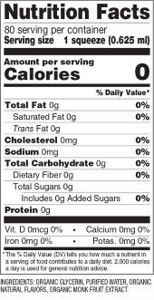 Old-Fashioned Lemonade Monk Fruit Nutrition Facts