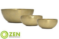 "Therapeutic Series Zen Singing Bowl Group 8.5"", 4.75"", 4.75"" ztg2"