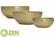 "Therapeutic Series Zen Singing Bowl Group 8.5"", 9"", 9"" ztg4"