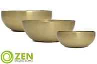 "Therapeutic Series Zen Singing Bowl Group 8.5"", 9"", 9"" ztg4"