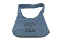 Zen Singing Bowls Blue Shoulder Bag