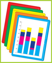 Paperwork arrangers, letter size, PW003,   The assorted pack comes with five each of light blue, orange, red, yellow and green.