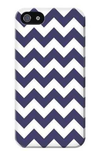 S2345 Navy Blue Shavron Zig Zag Pattern Case For IPHONE 5 5s SE