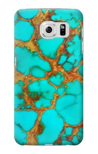S2688 Aqua Copper Turquoise Graphic Case For Samsung Galaxy S6 Edge