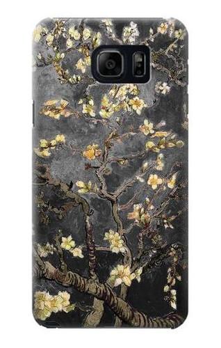 S2664 Black Almond Blossom Van Gogh Case For Galaxy S6 Edge Plus
