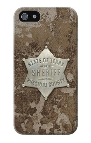 S2868 Texas Presidio County Sheriff Badge Case For IPHONE 5 5s SE