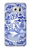 S2768 Willow Pattern Graphic Case For Samsung Galaxy S6 Edge