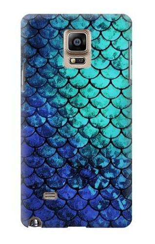 S3047 Green Mermaid Fish Scale Case For Samsung Galaxy Note 4