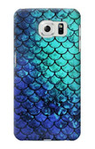S3047 Green Mermaid Fish Scale Case For Samsung Galaxy S6 Edge
