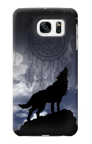 S3011 Dream Catcher Wolf Howling Case For Samsung Galaxy S7