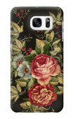 S3013 Vintage Antique Roses Case For Samsung Galaxy S7
