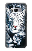 S0265 White Tiger Case For Samsung Galaxy S8