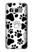 S2904 Dog Paw Prints Case For Samsung Galaxy S8