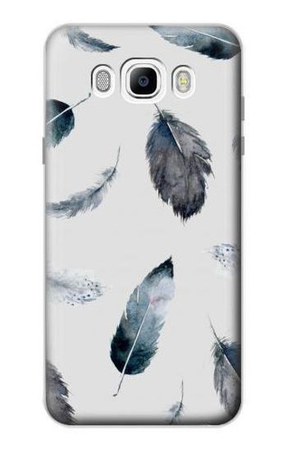S3085 Feather Paint Pattern Case For Samsung Galaxy J7 (2016)