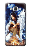 S0147 Grim Wolf Indian Girl Case For Samsung Galaxy J7