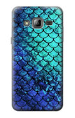 S3047 Green Mermaid Fish Scale Case For Samsung Galaxy J3 (2016)