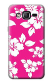 S2246 Hawaiian Hibiscus Pink Pattern Case For Samsung Galaxy On5
