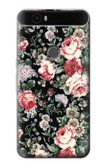 S2727 Vintage Rose Pattern Case For Huawei Nexus 6P