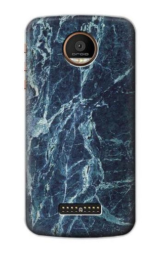 S2799 Light Blue Marble Stone Graphic Printed Case For Motorola Moto Z Force, Z Play