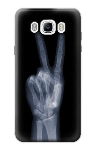 S3101 X-ray Peace Sign Fingers Case For Samsung Galaxy J7 (2016)
