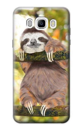 S3138 Cute Baby Sloth Paint Case For Samsung Galaxy J7 (2016)