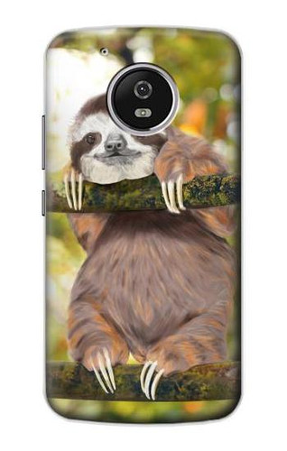 S3138 Cute Baby Sloth Paint Case For Motorola Moto G5