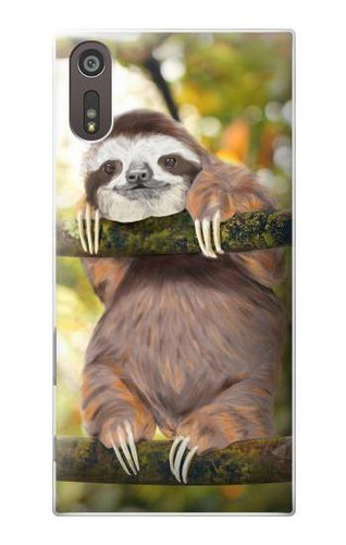 S3138 Cute Baby Sloth Paint Case For Sony Xperia XZ
