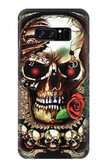 S0753 Skull Wing Rose Punk Case For Note 8 Samsung Galaxy Note8